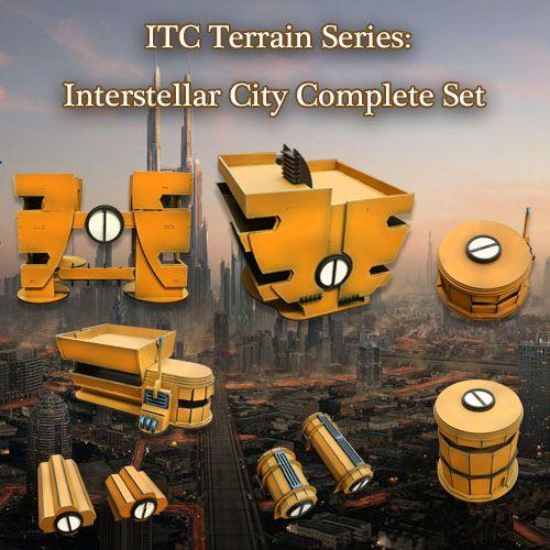 ITC Terrain Series: Interstellar City Complete Set