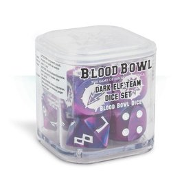 Games Workshop Blood Bowl Dark Elf Team Dice Set