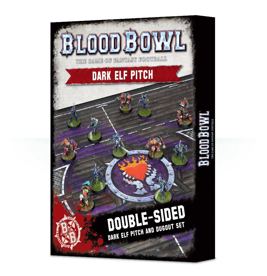 Games Workshop Blood Bowl Dark Elf Pitch & Dugout