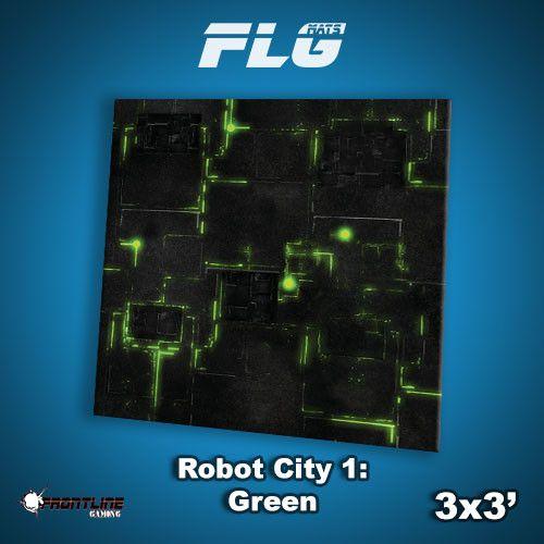 Frontline Gaming FLG Mats: Robot City 3x3