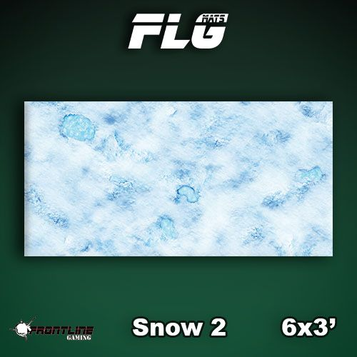 Frontline Gaming FLG Mats: Snow 2 6x3'