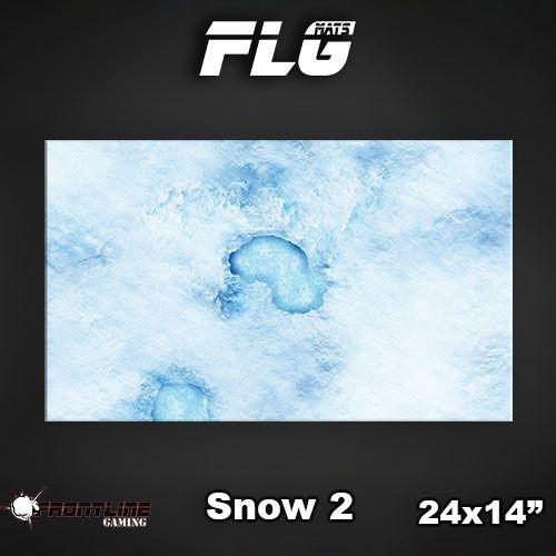 "Frontline Gaming FLG Mats: Snow 2 24"" x 14"""