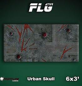 Frontline Gaming FLG Mats: Urban Skull 6x3'