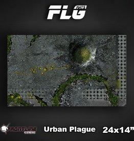 """Frontline Gaming FLG Mats: Urban Plague 24"""" x 14"""""""