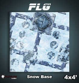 Frontline Gaming FLG Mats: Snow Base 4x4'