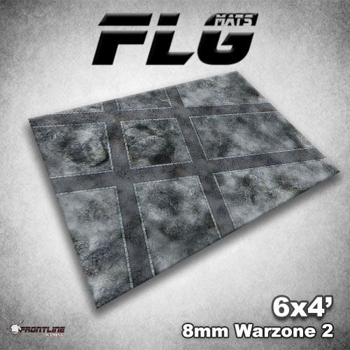 Frontline Gaming FLG Mats: 8mm Warzone 2 6x4'