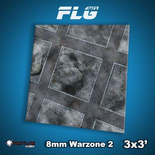 Frontline Gaming FLG Mats: 8mm Warzone 2 3x3'