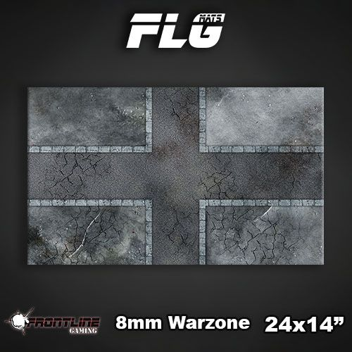 "Frontline Gaming FLG Mats: 8mm Warzone 24"" x 14"""