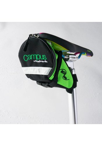 Campus Saddle Bag Large Black/Green