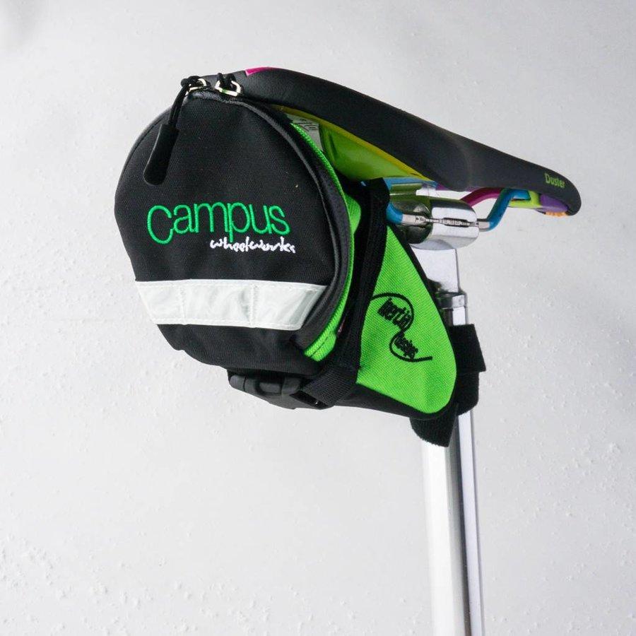 Campus Saddle Bag Large Black/Green