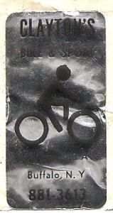 old claytons bike shop sticker