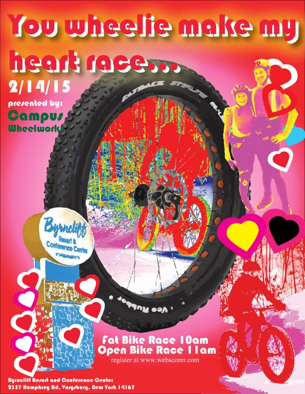 you wheelie make my heart race poster