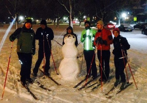 image of our cross country xc ski club meeting in delaware park