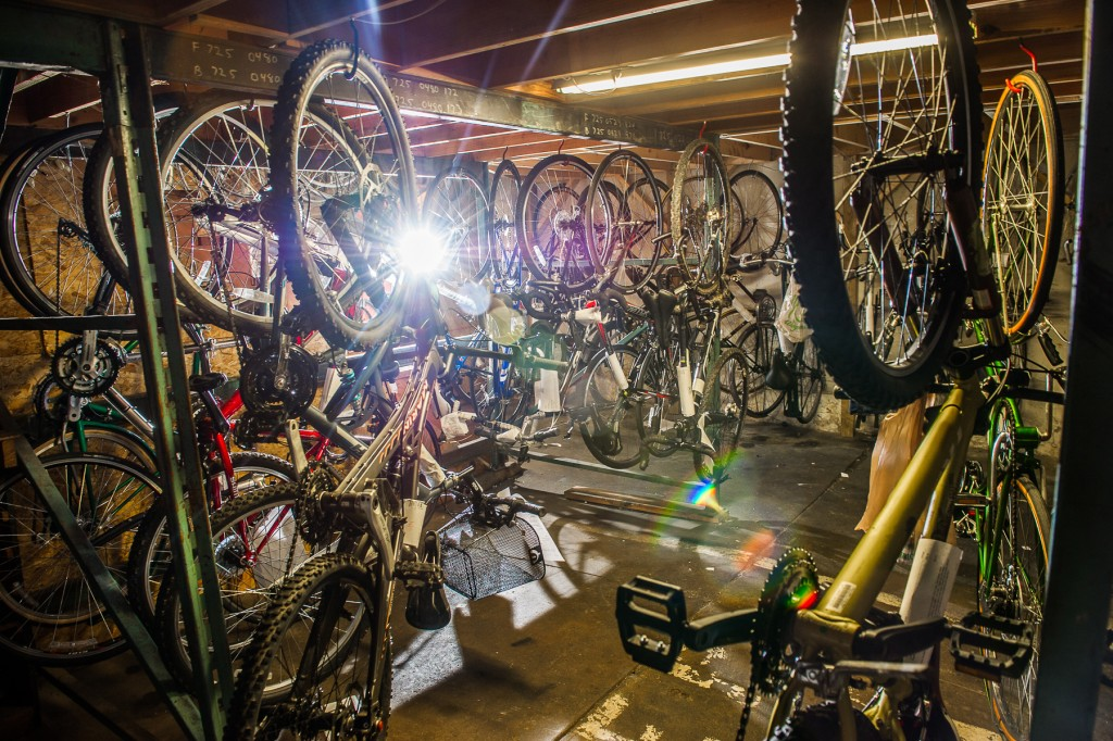 picture of our bike warehouse that is full of bikes that have already been repaired