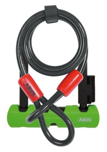"Abus Ultra 410 Ulock Mini+Cobra Cable: (7"") Black/Green"