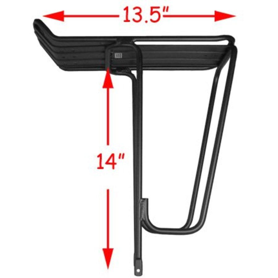 Jandd Standard Rear Rack: Black