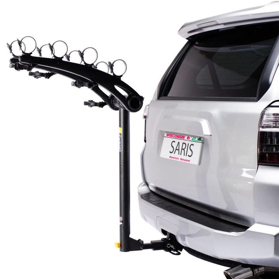 Saris Bones Universal Hitch Rack: 4 Bike; Black