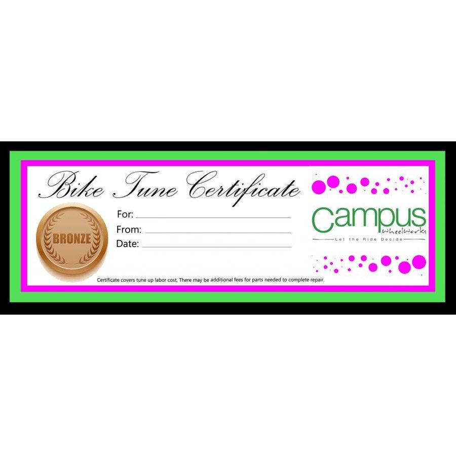bronze bike tune up single speed gift certificate campus