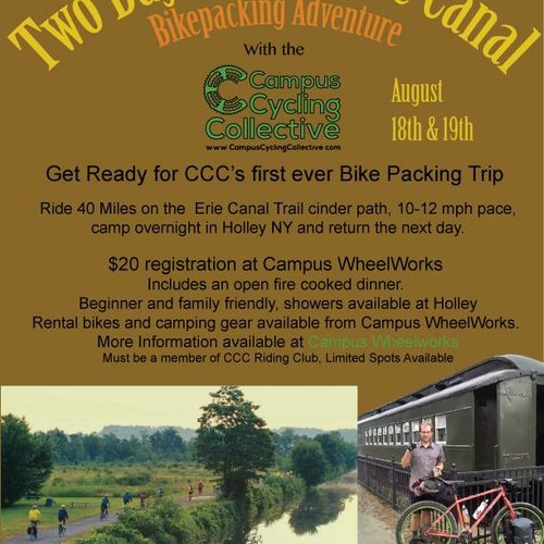 Erie Canal  Bikepacking Trip 8/18-8/19!