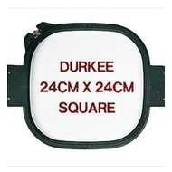 Durkee 24cm x 24cm Tubular Hoop, 360 Needle Spacing, Tajima, Brother and Toyota Compatible