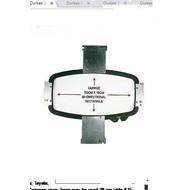 Durkee Durkee 11.75 X 4 (30cm x 10cm) Rectangular Bi-Directional Hoop, 400MM Needle Spacing, Meistergram Compatible