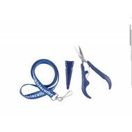 Klein Cutlery 5 inch  Spring Loaded Embroidery Nipper . Curved Blades and Lanyard