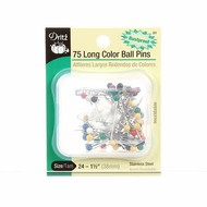 Prym Consumer Usa Inc Long Color Ball Pin SZ 24 1 1/2in 75ct