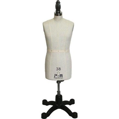 Half Scale Men Mini Dress Form with Hip
