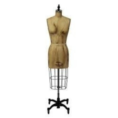 Antique Missy & Junior Dress Form with Hip (Antique Design) With traditional heavy duty cast iron base