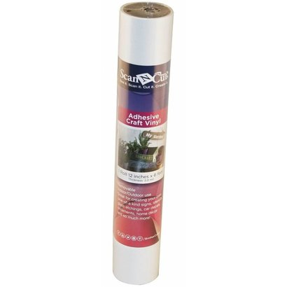 Brother 6 FT ROLL- WHITE ADHESIVE CRAFT VINYL