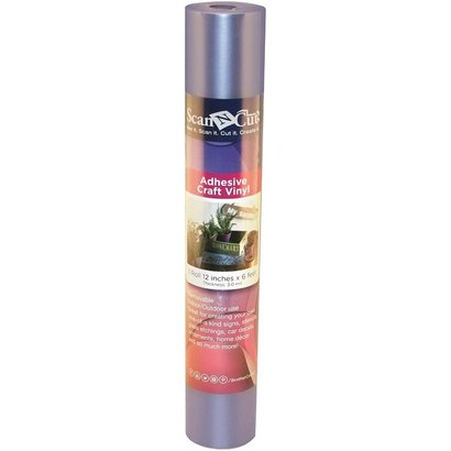 Brother 6 FT ROLL- SILVER ADHESIVE CRAFT VINYL