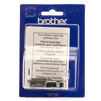 Brother Open Toe Quilting Foot (metal). and Requires Low Shank Adapter for ULT/PC series. Fits NV6000D