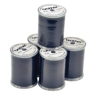 Embroidery Thread - Black color (box of 5 spools) 1200 yds.60 wt