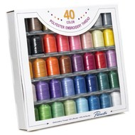 40 Color Polyester Thread Set