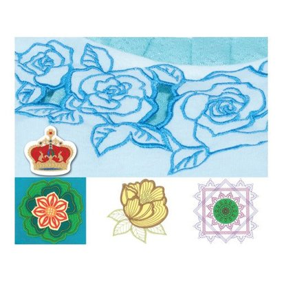 Embroidery USB PR Cutwork Designs