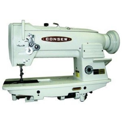 """Consew Consew 255RB-3 Walking Foot Needle Feed Sewing Machine, Stand, 10""""Arm, 9/16""""Lift, 4SPI, Safety Clutch, Drop In Vertical Axis Bobbin 15041, 3000RPM"""