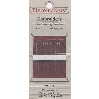 Checker Piecemaker Embroidery / Crewel Needles Size 7