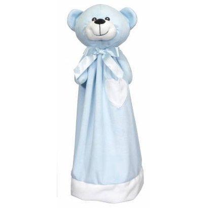 Checker Blankey Buddy Bear Blue 20in