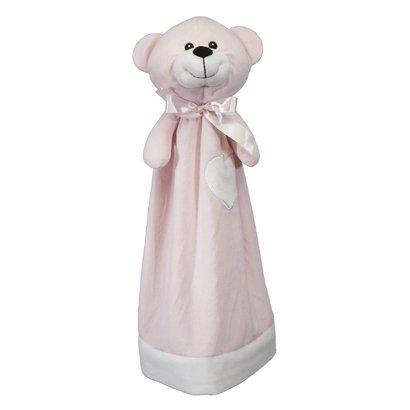 Checker Blankey Buddy Bear Pink 20in