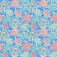 """Oracal 651 Patterned Adhesive Vinyl - Boom Boom Blue 12"""" x 12"""" sheet"""