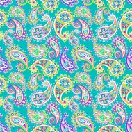 "Oracal 651 Patterned Adhesive Vinyl - Fiesta Paisley Green 12"" x 12"" sheet"