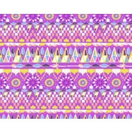 """Oracal 651 Patterned Adhesive Vinyl -Perky Tribe Purple 12"""" x 12"""" sheet"""