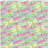 """Oracal 651 Patterned Adhesive Vinyl - Dragonflies Mint 12"""" x 12"""" sheet"""
