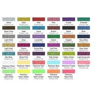 "Specialty Pressure Sensitive Glitter Flex Ultra 12"" x 10"" sheets"