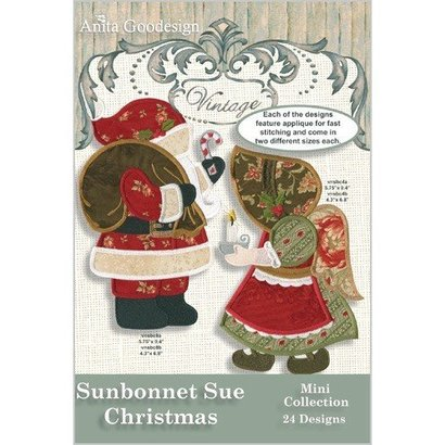 Anita Goodesign Mini Collections: Sunbonnet Sue Christmas