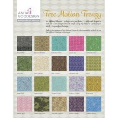 Anita Goodesign Premium Plus Collections: Free Motion Frenzy