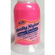 Checker Woolly Nylon Thread 1000m 292 Hot Pink