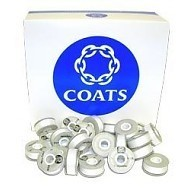 Coats Coats Polyester Astra A-120 Prewound Bobbins White - 144 count