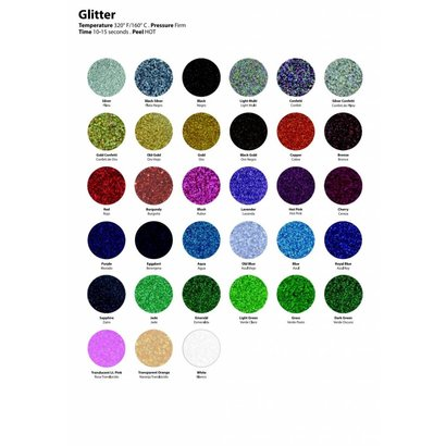 "Siser Glitter 20"" x 1yd rolls (320°F 10-15 seconds)"