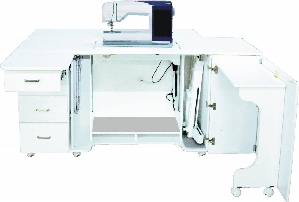 Model 40 Combo Sewing Embroidery Serger Cabinet [CALL FOR Amazing Sewing Machine Serger Combo
